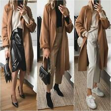 ZARA CAMEL HANDMADE BELTED COAT WITH SIDE VENTS SIZE S