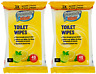 Toilet Wipes | 80 x Toilet Flushable Cleaning Wipes | Lemon Scent | Fast P&P