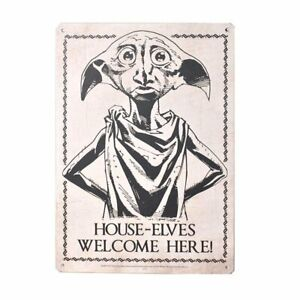 Dobby House-Elves Welcome Here! Metal Wall Hanging Plaque Sign 15x20cms