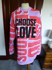 ASOS sweatshirt dress (Choose Love) size XS lilac/coral/white new (tags)