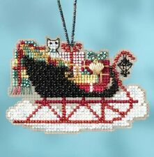 Mill Hill Vintage Sleigh Ride Charmed Bead Ornament Cross Stitch Kit 2017