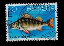 SWITZERLAND  SCOTT# 733  USED  FISHING AND PISCICULTURE FED. CENTENARY