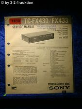 Sony Service Manual TC FX430 / FX433 Cassette Deck (#1838)