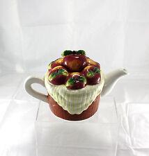 Cute Ceramic Fruit Red Apple Design Tea Pot Houston Harvest