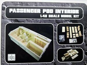 Space 1999 Eagle Passenger Pod Interior 1/48 scale resin model kit