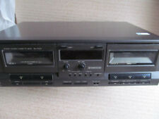 Technics RS-TR212 Twin Double Cassette Deck Player, Black
