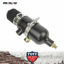 Proflow 750ml Stealth Black Oil Catch Can Tank with Breather & Drain Tap NPT New