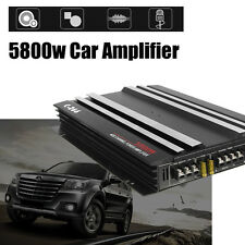 5800 Watt RMS 4/3/2 Channel Powerful Car Audio Power Stereo Amplifier Amp 4Ohm