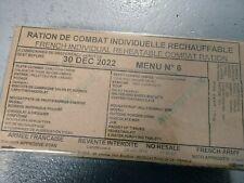 #2022# Menu 6 , French MRE IRP Military Food RCIR 24H MENU Combat Box US France