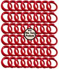 """48 RED #12 LEG BANDS 3/4"""" CHICKEN POULTRY CHICK QUAIL PIGEON DOVE DUCK GOOSE"""