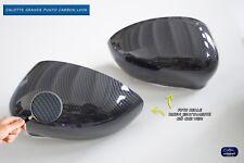 FIAT Grande Punto calotte per specchietti carbonio nero coppia calotta per auto