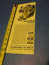 THE FARM - FALL 1962 -AD- STERLING FARM and FEED SALT FOR CATTLLE
