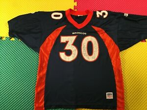 1990's Terrell Davis Denver Broncos #30 Wilson Jersey Youth Size XL Made In USA