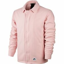 Nike SB Quartersnacks Coaches Jacket Coat Pink White Sz Large 857070-612