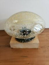 Mid Century Amber Glass W/Lucite Design Ceiling Globe Light Fixture
