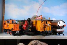LGB Spur G Diesel & Dampflok mit Schneeschleuder & 2 Wagen 5-tlg.