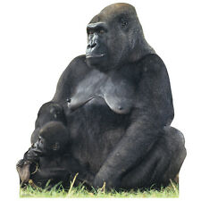 GORILLA MOTHER AND BABY CARDBOARD CUTOUT Standee Standup Poster Prop FREE SHIP