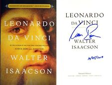 Walter Isaacson~SIGNED & DATED~Leonardo da Vinci~1st/1st+Photos! NOT Tipped-In!!