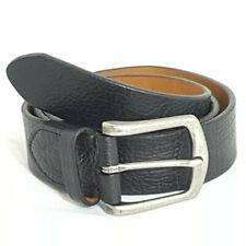 "NEW Trask Leather Belt Sz 36 Black Logan 34.5""-38.5"" Gun Metal Tone Buckle"