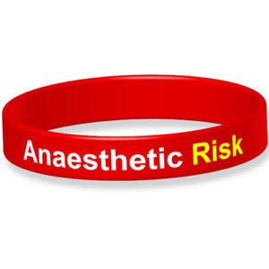 Anaesthetic Risk Medical Alert Wristband