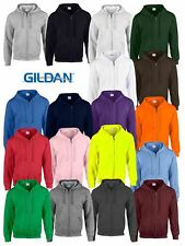 Gildan Mens Heavy Blend Adult Full Zip Hooded Zipped Hooded Sweatshirts  Hoodies