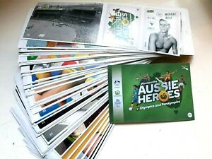 Complete ur Woolworths Aussie Heroes set stickers Olympics Paralympics New stock