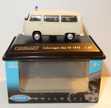MICRO WELLY COLECCIÓN VOLKSWAGEN VW BUS T2 AMBULANCIA CRUZ ROJO 1972 HO 1/87