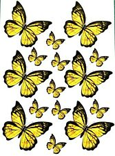 Killer Graffix Digitally Printed Yellow Butterfly Stickers Car Boat Bike Van