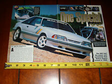 1989 SALEEN SSC MUSTANG - ORIGINAL 1993 ARTICLE