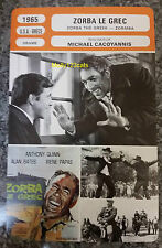 UK Drama Zorba The Greek Anthony Quinn Alan Bates French Film Trade Card