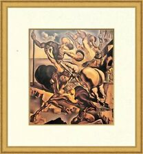"""Salvador Dali """"Family of Marsupial Centaurs"""" Custom Framed Print Free Ship"""