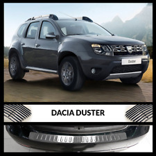 DACIA DUSTER 2010-2017 Chrome Rear Bumper Protector Scratch Guard S.Steel