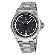 NWT Victorinox Swiss Army Mens Night Vision Black Dial Watch 241569