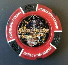 HD ST. THOMAS ~ Harley Poker Chip~FULL COLOR~(Red/Black) BLACKBEARDS REVENGE!
