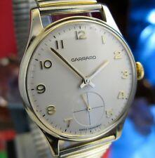 Garrard 9ct gold vintage watch serviced large dial Calibre Unitas 6325 Speidel