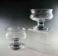 2 Holmegaard Kastrup TIVOLI Dessert/Sherbet GOBLETS 1960s EXCELLENT Glass MCM