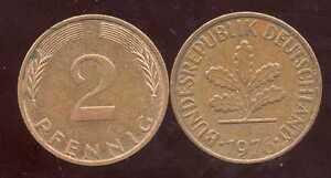 ALLEMAGNE  germany   2 pfennig  1976 J