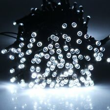 Cool White 100 LED Solar Powered Outdoor String Lights Garden Christmas Wedding