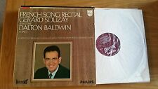 FRENCH SONG RECITAL GERARD SOUZAY - DALTON BALDWIN - PHILIPS HI-FI STEREO - LP