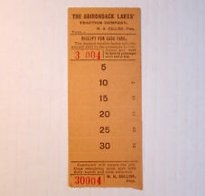 Vintage Adirondack Lakes Traction Co. Streetcar & Trolley Transfer