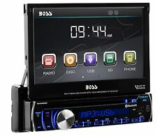 """Boss Bluetooth 7"""" Lcd Multi-Color Led Dvd Cd Mp3 Usb/Sd Player Aux Am/Fm Remote"""