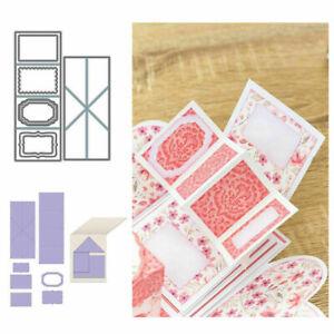 Twist Pop-Up Card Stencil Metal Cutting Dies Scrapbooking Paper Craft Making