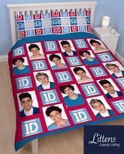 One Direction Craze Double couette couverture Set Enfants Literie, Rouge, Bleu