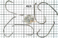 100x #8/0 Baitholder Fishing Hooks Offset Strong Chemically Sharpened Jig USA!