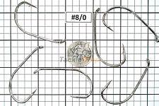 100x #8/0 Baitholder Fishing Hooks Offset Strong Chemically Sharpened Jig USA!