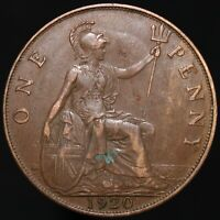 1920   George V One Penny   Bronze   Coins   KM Coins