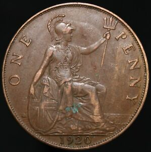 1920 | George V One Penny | Bronze | Coins | KM Coins