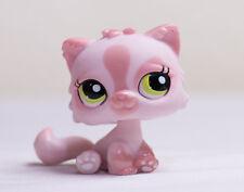 Littlest Pet Shop LPS Pink Shimmer Persian Cat Green Eyes #1083 Rare