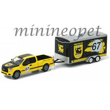 GREENLIGHT 32090 C HITCH & TOW 2015 FORD F-150 & TERLINGUA RACING TRAILER 1/64