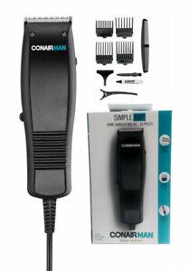 CONAIR MAN SIMPLE 10 PIECES TAPER HOME HAIR CUTTING KIT HAIR CLIPPER TRIMMER SET